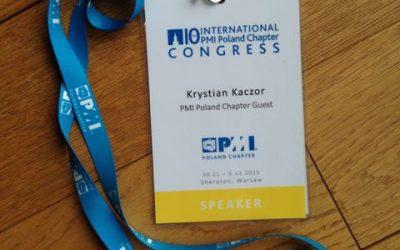 PMowie asprawa Agile, czyli owystąpieniu na kongresie PMI Poland Chapter