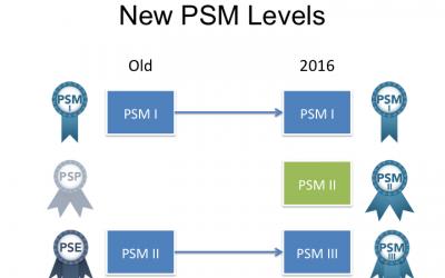 Egzaminy PSM — zmiany poziomów na PSM I, PSM II iPSM III